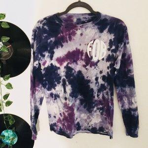Fall out boy tie dye long sleeve shirt
